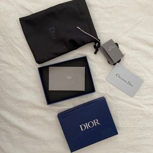 Dior wallet/jewelry box with dust bag